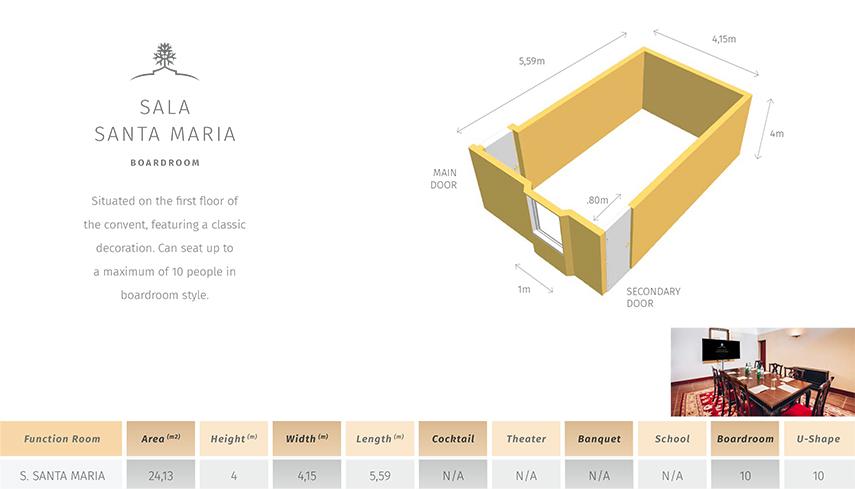 Santa Maria Room Plan